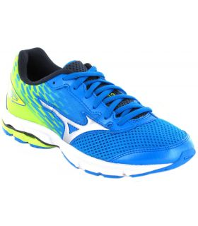 Mizuno Wave Rider 19 Jr Bleu
