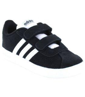 Adidas VL Court 2.0 CMF I Negro Adidas Calzado Casual Baby Lifestyle Tallas: 23 1/2, 25,5, 26,5; Color: negro