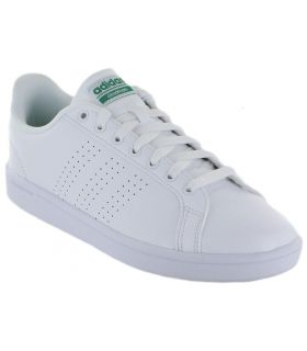 Adidas VS Advantage CL Adidas Calzado Casual Hombre Lifestyle Tallas: 44 2/3, 46, 45 1/3; Color: blanco