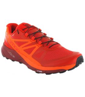 Salomon Sense Ride Naranja - Zapatillas Trail Running Hombre - Salomon