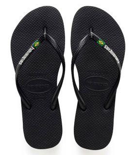 Havaianas Slim Brazil Logo Black