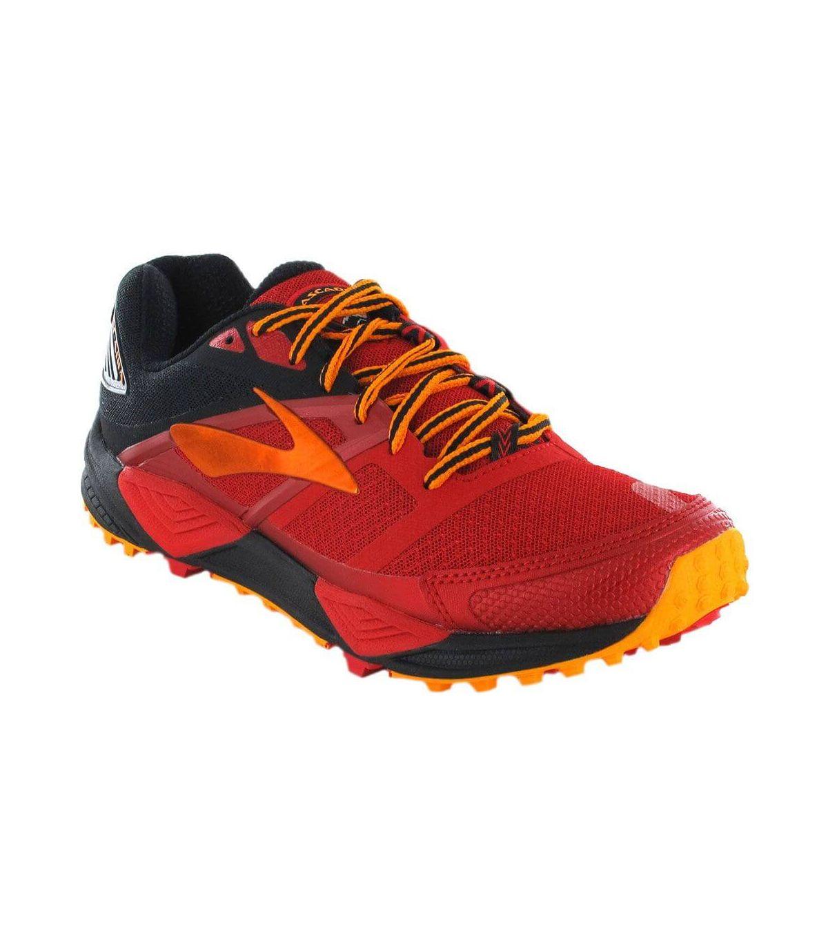 Brooks Cascadia 12 Rojo Zapatillas Trail Running Hombre Zapatillas Trail Running Tallas: 41; Color: rojo