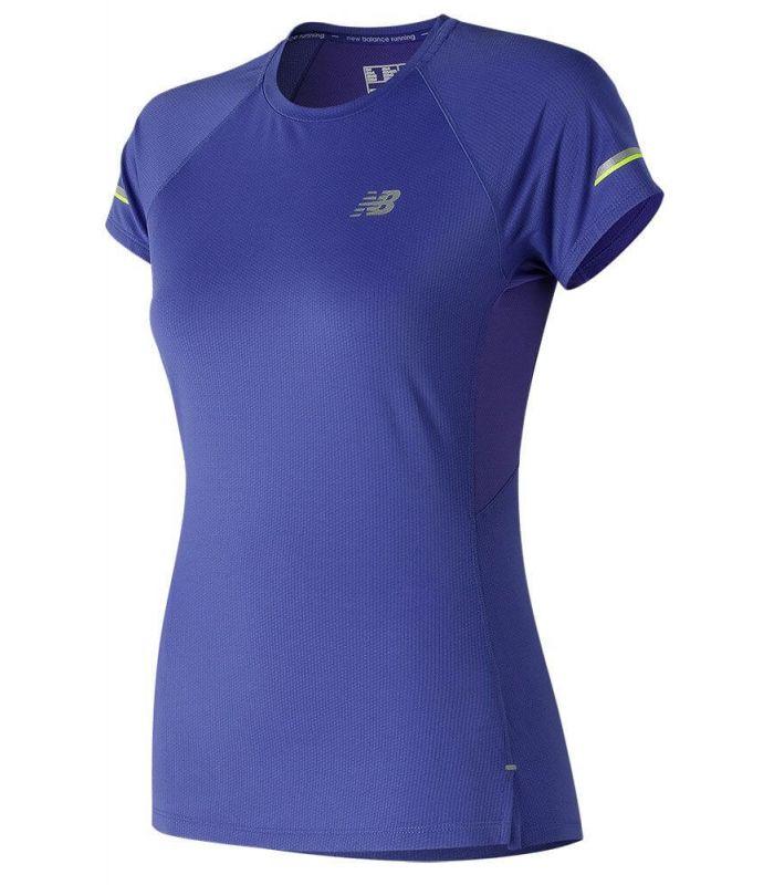 New Balance Ice 2.0 Short Sleeve - Camisetas técnicas running - New Balance azul xs, s