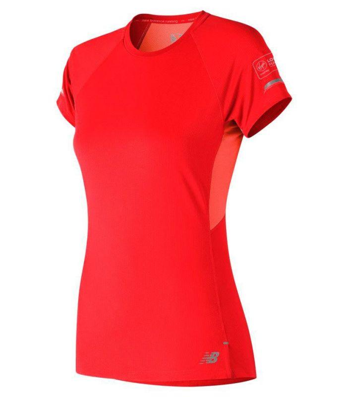 New Balance Ice 2.0 Short Sleeve Naranja - Camisetas técnicas running - New Balance
