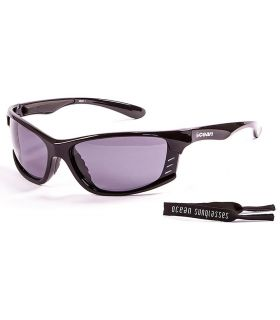 Ocean Cyprus Shiny Black / Smoke Ocean Sunglasses Gafas de sol Running Running Color: negro