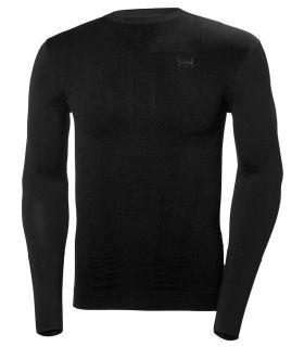 Helly Hansen Lifa Seamless Crew - Camisetas técnicas montaña - Helly Hansen negro s, m