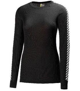 Helly Hansen Dry Stripe Crew W Negro Helly Hansen Camisetas técnicas montaña Textil montaña Tallas: s, m; Color: negro