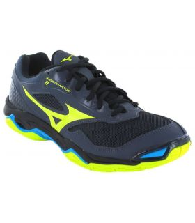 Mizuno Wave Phantom 2 Mizuno Zapatillas Balonmano Balonmano Tallas: 45, 41; Color: gris