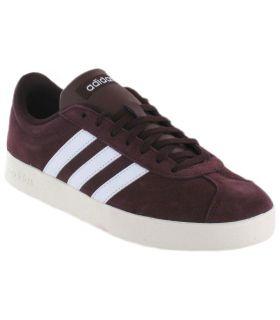 Adidas VL Court 2.0 Granate Adidas Calzado Casual Hombre Lifestyle Tallas: 40, 41 1/3, 44 2/3, 48; Color: granate