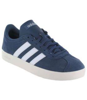 Adidas VL Court 2 Blue Adidas Calzado Casual Hombre Lifestyle Tallas: 40 2/3, 41 1/3, 42, 42 2/3, 43 1/3, 44, 44 2/3