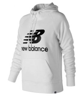 New Balance Pullover Hoodie W Blanco