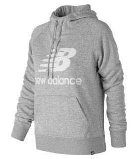 New Balance Sweter Bluza Z Kapturem W Szarym
