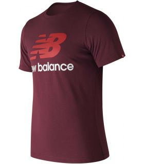 New Balance Essentials Stacked Logo NBY - Camisetas Lifestyle - New Balance granate s, l