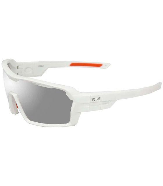 Ocean Chamaleon Matte White / Revo White Ocean Sunglasses Gafas de Sol Sport Gafas de Sol Color: blanco