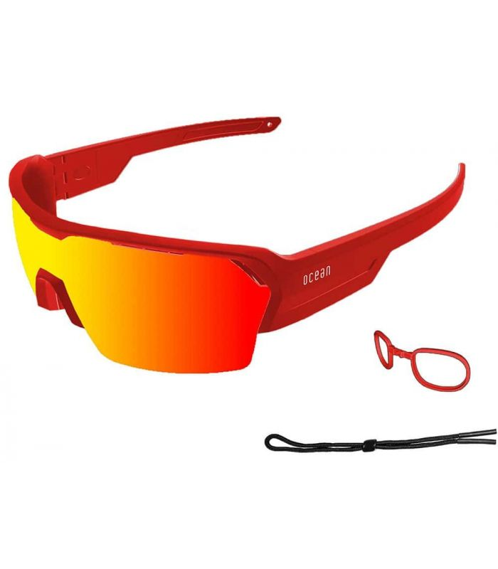 Ocean Race Matte Red / Red Revo - Sunglasses Sport