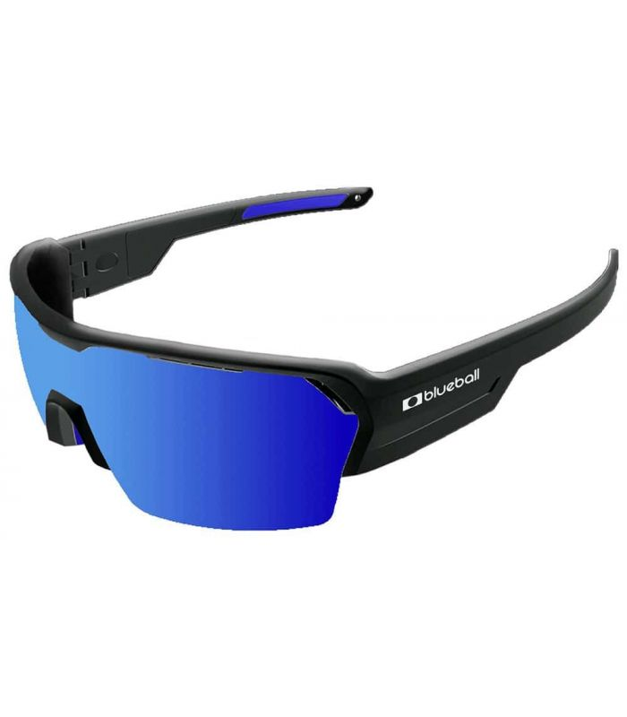Blueball Aizkorri Shinny Black / Revo Blue - Sunglasses Sport