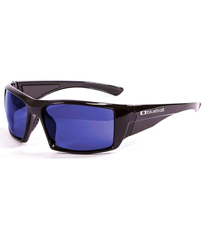 Blueball Monaco Shiny Black / Revo Blue - Sunglasses Sport