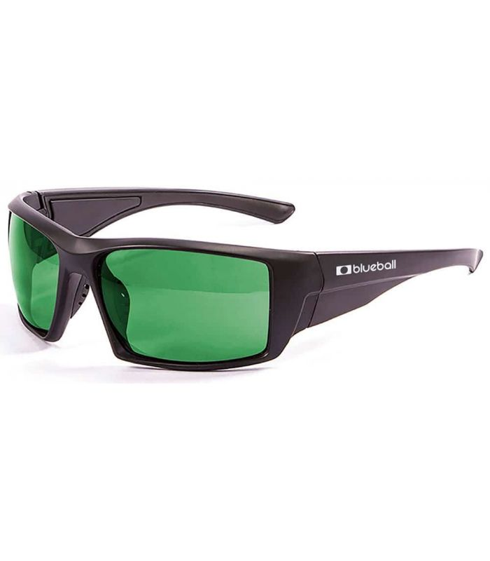 Blueball Monaco Matte Black / Revo Green - Sunglasses Sport