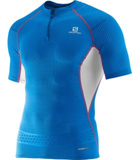 Salomon S-Lab Exo Zip Tee Azul 2 Salomon Camisetas Técnicas Trail Running Textil Trail Running Tallas: l, s