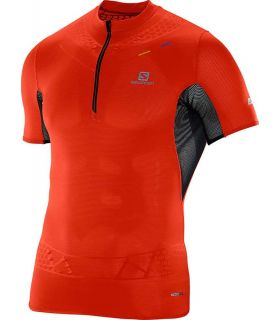 Salomon SLab Exo Zip Tee Rojo