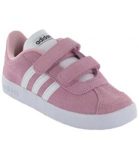 Adidas VL Court 2.0 CMF Rosa Adidas Calzado Casual Baby Lifestyle Tallas: 24, 25; Color: rosa
