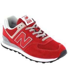 New Balance ML574ERD New Balance Calzado Casual Hombre Lifestyle Tallas: 41,5, 44; Color: rojo
