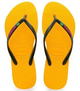 Havaianas Slim Brasil Logo Amarillo Tienda Sandalias /