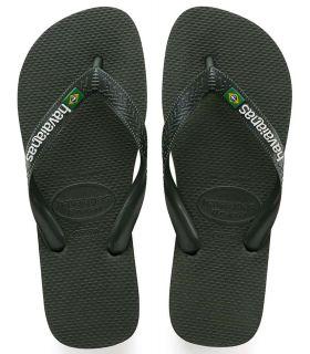 Havaianas Brasil Logo Verde Tienda Sandalias / Chancletas