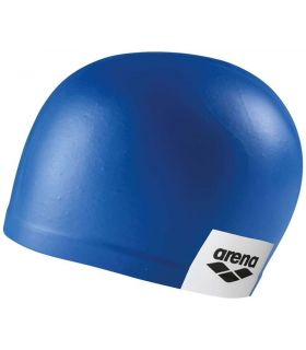 Sand Cap Swimming Logo Moulded Blue