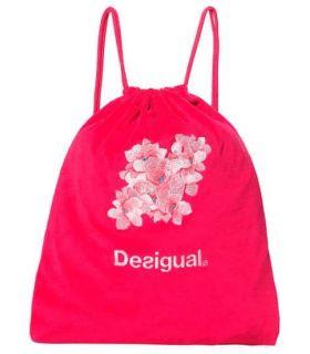 Desigual Camo Flower Gymsac - Mochilas - Bolsas - Desigual fucsia
