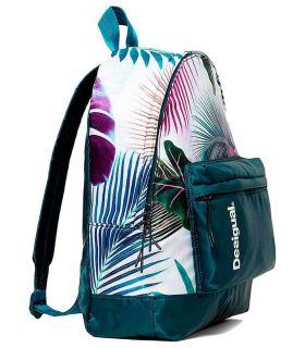 Desigual Mochila Print Tropical Bio Patching Desigual Mochilas - Bolsas Running Color: azul marino