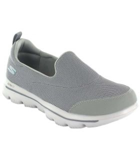 Skechers GO walk Evolution Ultra Gris Skechers Calzado Casual Mujer Lifestyle Tallas: 37, 38, 39, 41; Color: gris