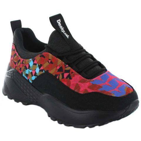 Inégale Chunky Noir Desigual Chaussures de Femmes de mode de Vie Décontracté Tailles: 36, 37, 38, 39, 40, 41; Couleur: noir