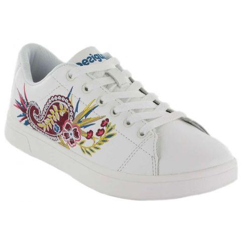 Uneven Tennis Ethnic Desigual Shoes Women's Casual Lifestyle Sizes: 36, 37, 38, 39, 40, 41; Color: white