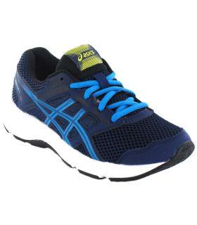 Asics Contenu Gs Bleu Marine Asics Chaussures De Running Enfant Chaussures De Course Running Tailles: 35,5, 36, 37, 37,5, 38,