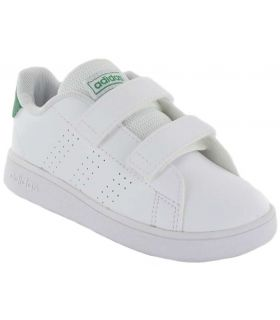 Adidas Advantage l Adidas Calzado Casual Baby Lifestyle Tallas: 21, 22, 23, 24, 25, 26, 27, 20; Color: blanco