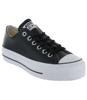 Converse Chuck Taylor All Star Lift Clean Leather Low Negro Converse Calzado Casual Mujer Lifestyle Tallas: 36, 37, 38