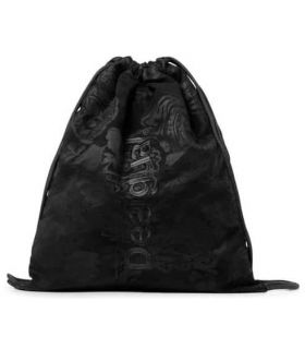 Uneven Soft Gymsack Patch Desigual Backpacks - Bags Running Color: black