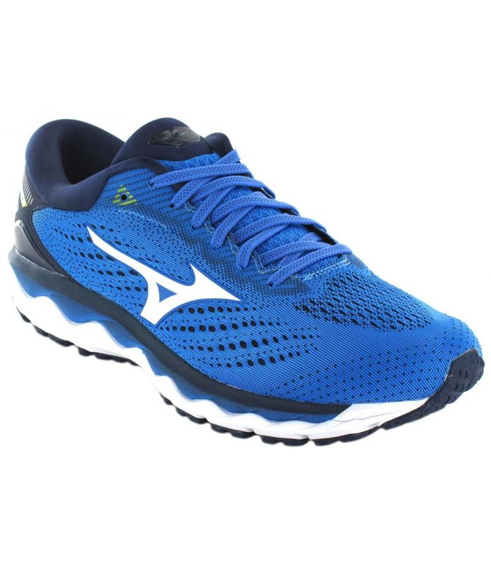 Mizuno Wave Sky 3 Blue Mizuno Running Shoes Man Running Shoes Sizes: 42,5, 44,5, 45; Color: blue