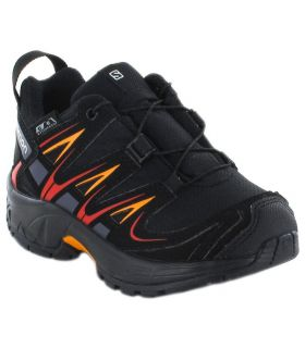 Salomon XA PRO 3D CSWP K Noir Chaussures de Trail Salomon Running Junior Chaussures de course Trail Running Tailles: 27, 28,