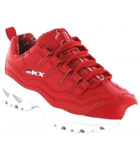 Skechers Énergie Rétro Vision Rouge Skechers Chaussures de Femmes de mode de Vie Décontracté Tailles: 37, 38, 39, 40, 41;