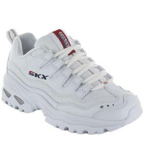Skechers Énergie Rétro Vision Blanc Skechers Chaussures de Femmes de mode de Vie Décontracté Tailles: 37, 38, 39, 40, 41;