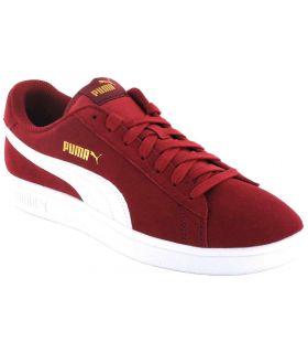 Puma Smash v2 Maroon Puma Shoes Casual Man Lifestyle Sizes: 41, 42, 43, 44, 45, 46; Color: garnet