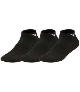 Mizuno Chaussettes de Formation en Milieu de 3P Noir Chaussettes Mizuno Chaussures de Course Running Tailles: 38 / 40, 41 / 43,