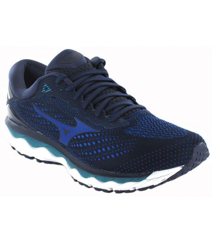 Mizuno Wave Sky 3 Marine Mizuno Running Shoes Man Running Shoes Running Sizes: 42, 42,5, 43, 44, 44,5, 45; Color: