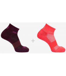 Salomon Socks Evasion 2 Pack 57 Salomon Socks Running Shoes Running Sizes: 36 / 38, 39 / 41; Color: