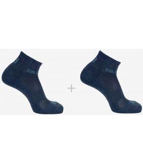 Salomon Socks Evasion 2 Pack Navy Blue Salomon Socks Running Shoes Running Sizes: 39 / 41, 42 / 44;