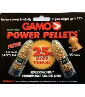 Gamo Balines Power Pellets 4,5 Gamo Municion Carabinas, pistolas Color: oro