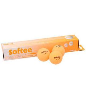 Jeu de 6 Balles de Tennis de Table 3 Étoiles Orange Softee Balles de Ping Pong Tennis de Table, Couleur: orange