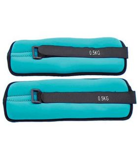 Bracelets Bracelets Confuse 2x0,5 Kg Softee Poids de la Cheville Inébranlable de Fitness Couleur: vert